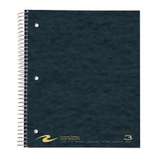 Roaring Spring 3 Subject College Ruled Spiral Notebook