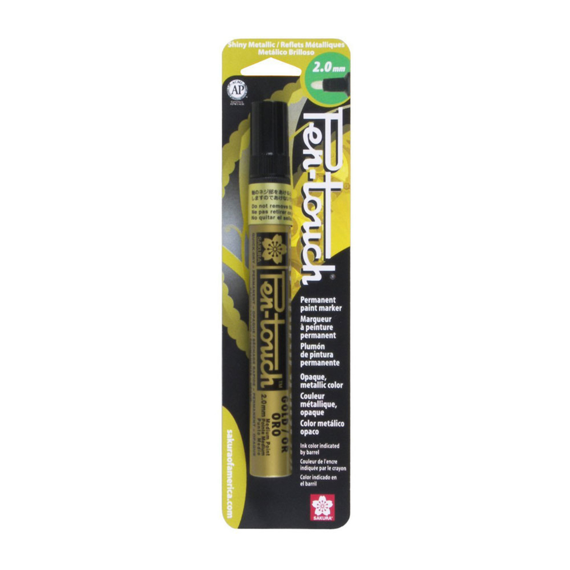 Sakura Pen-Touch Permanent Paint Marker – Gold 2.0 Millimeters