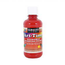 Sargent Art Time 8oz. Washable Tempera Paint – Red