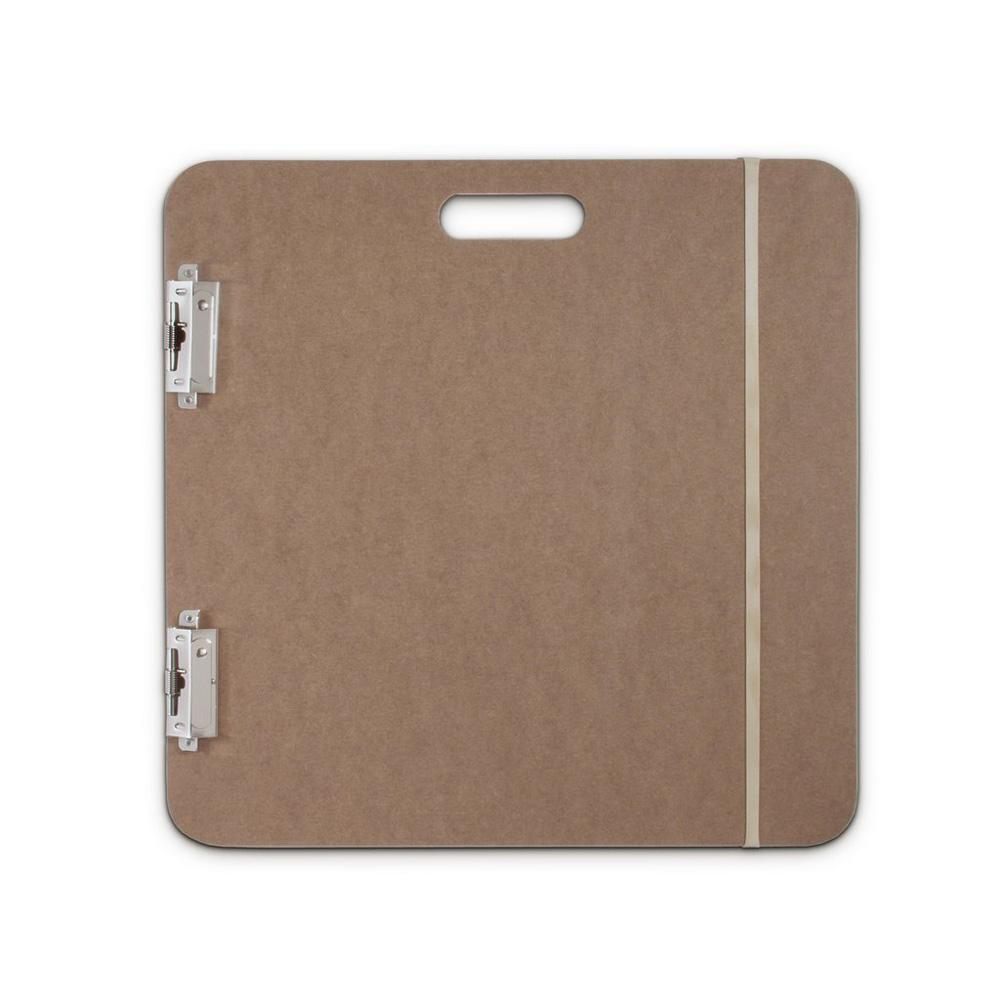 "Saunders 19""x19"" Fiberboard Artist Sketchboard With 2 Clips"