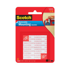 """Scotch Black 1/2""""x3/4"""" Removable Mounting Squares 48 Pack"""