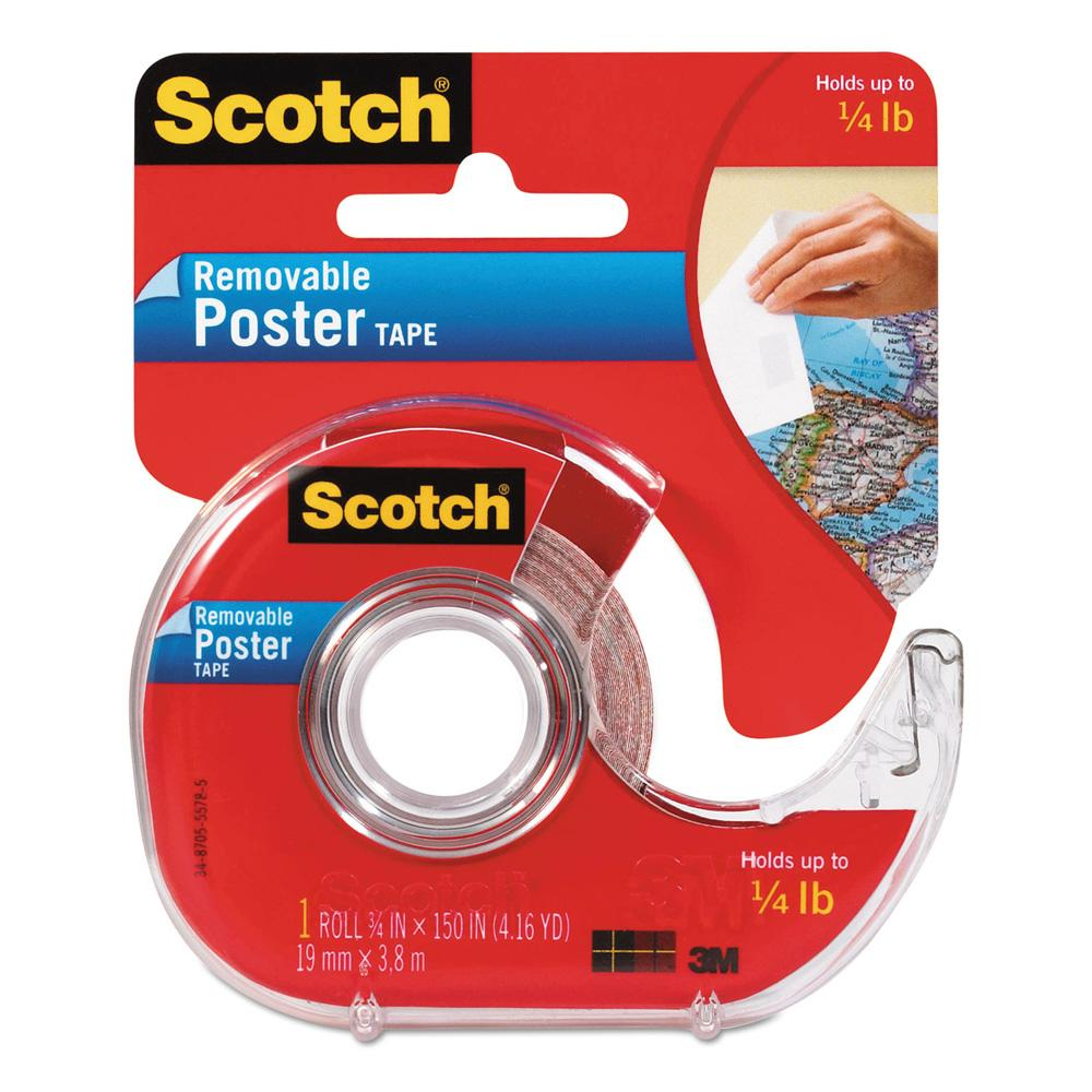 Scotch Clear Removable Poster Tape