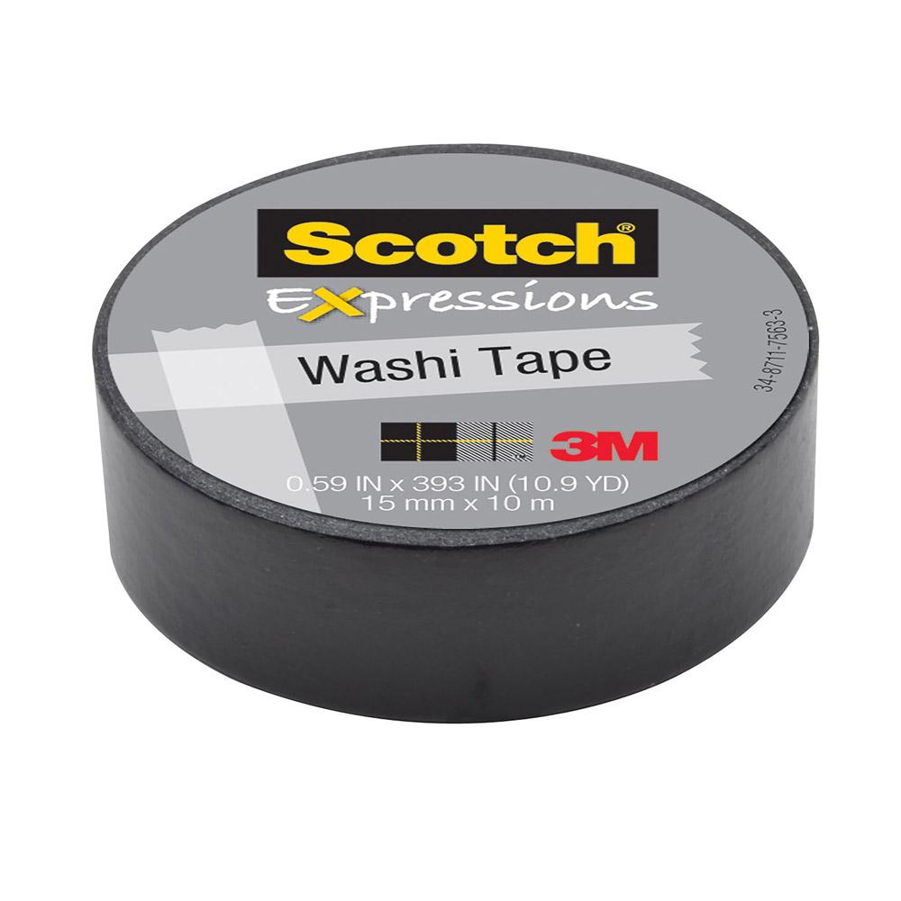 3M Scotch Expressions Black Washi Tape