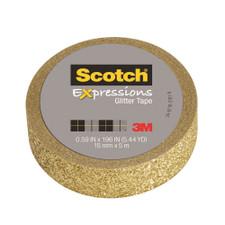 Scotch Expressions Gold Glitter Tape