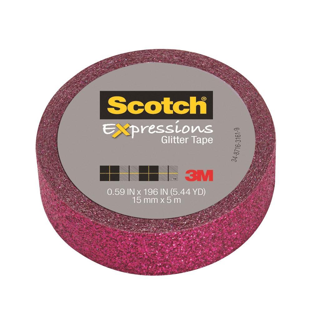 Scotch Expressions Hot Pink Glitter Tape