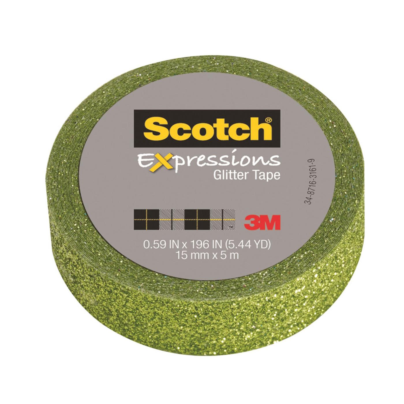 Scotch Expressions Green Glitter Tape
