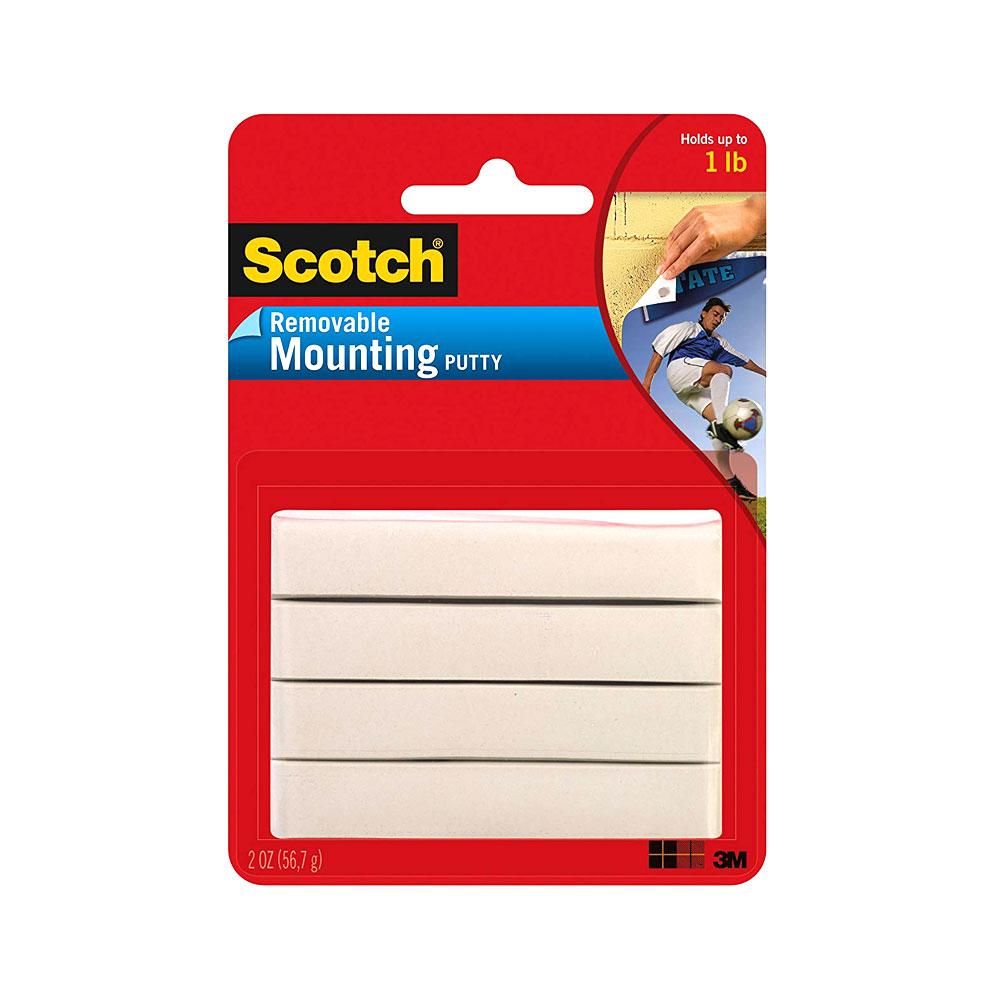 Scotch White 2oz Removable Mounting Putty