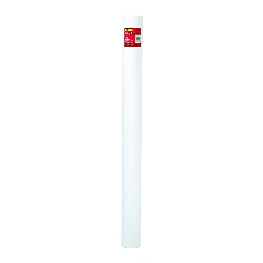 "Scotch White 3""x36"" Mailing Tube With Caps"