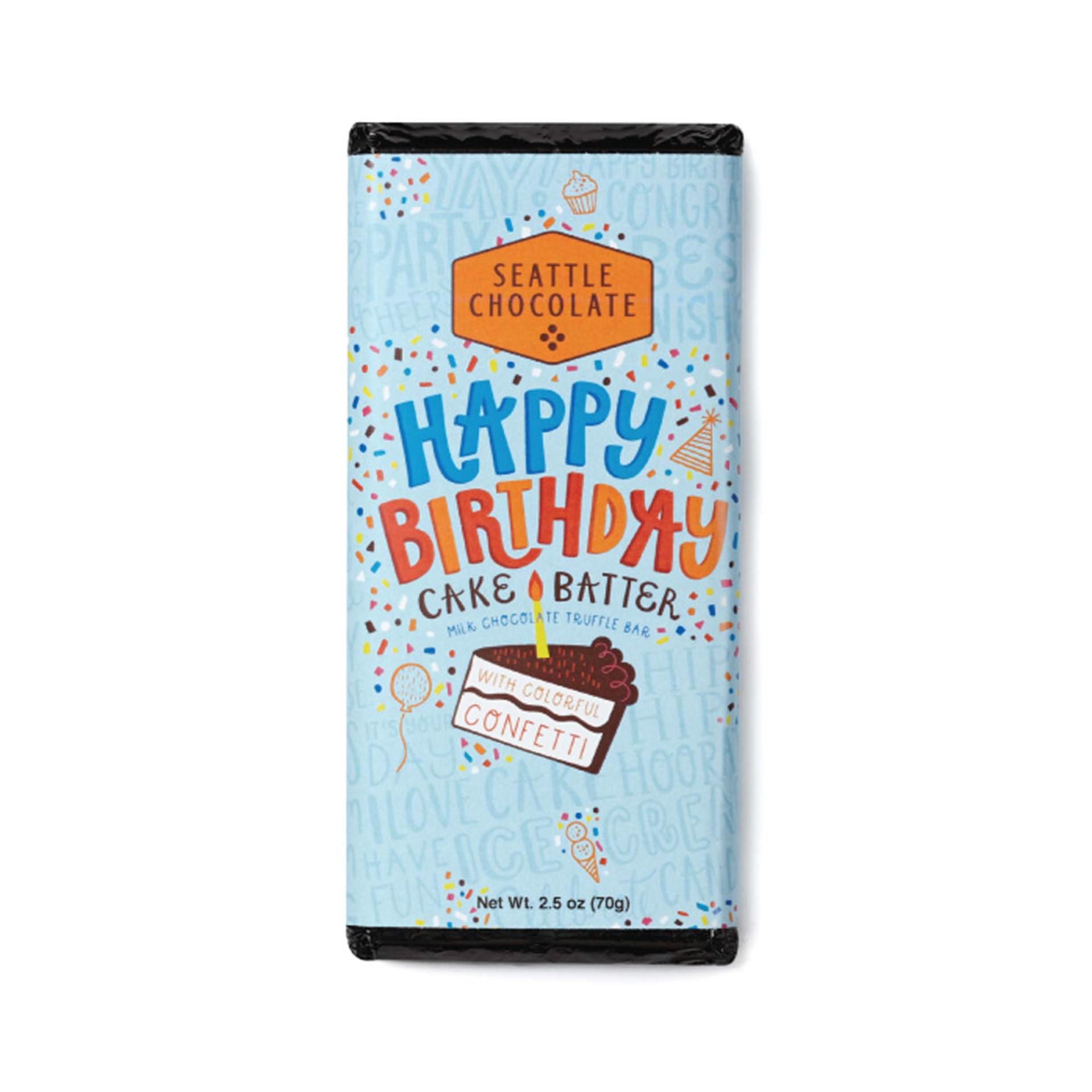 Seattle Chocolates Birthday Cake Truffle Bar