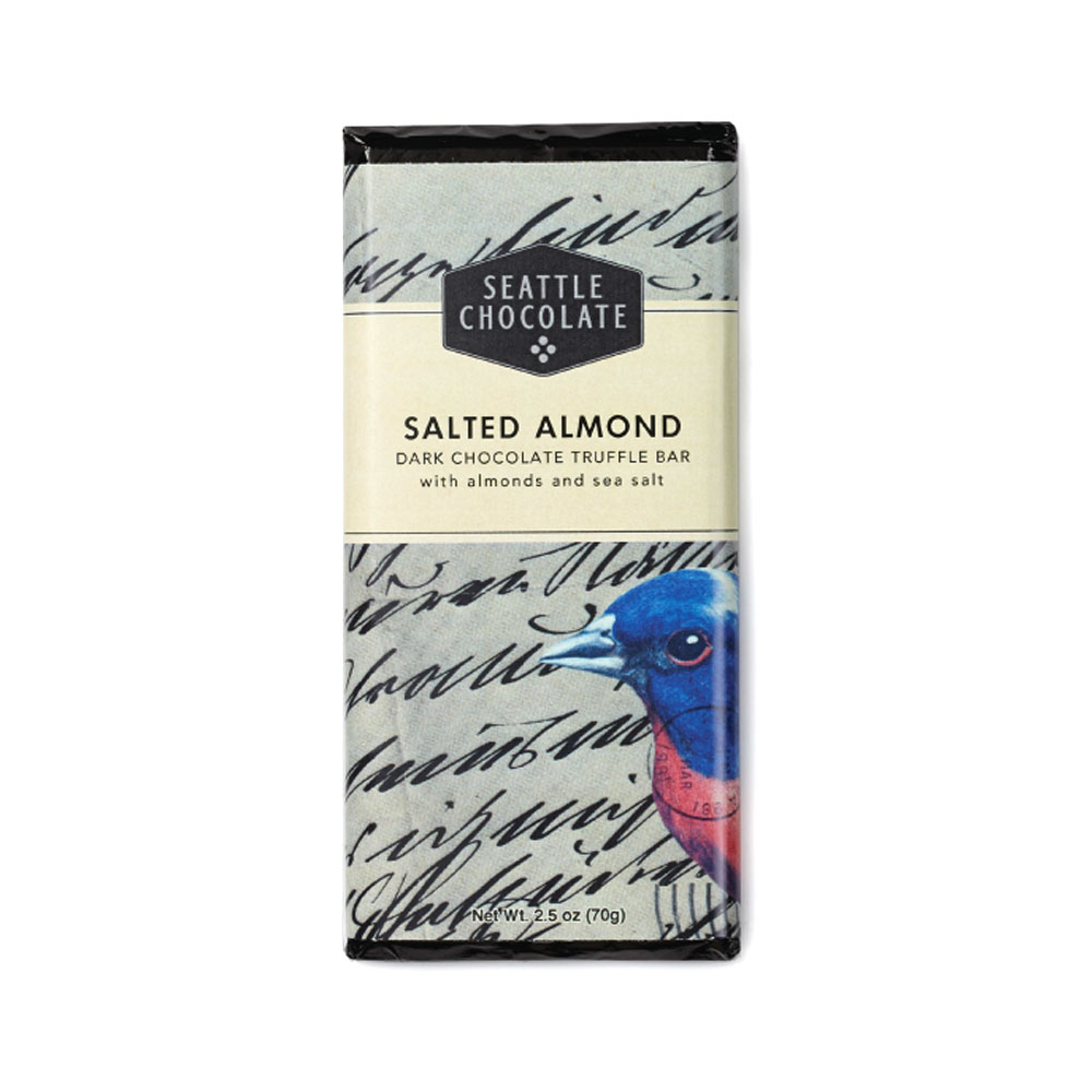 Seattle Chocolates Dark Salted Almond Truffle Bar