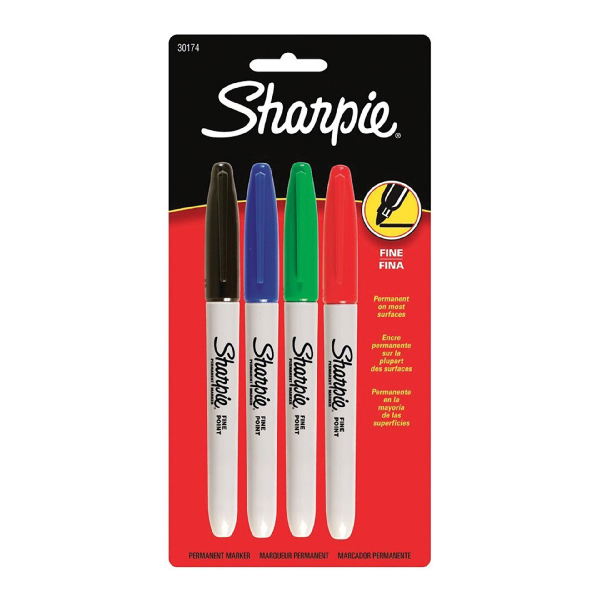 Sharpie Assorted Color Fine-Tip Markers 4 pack