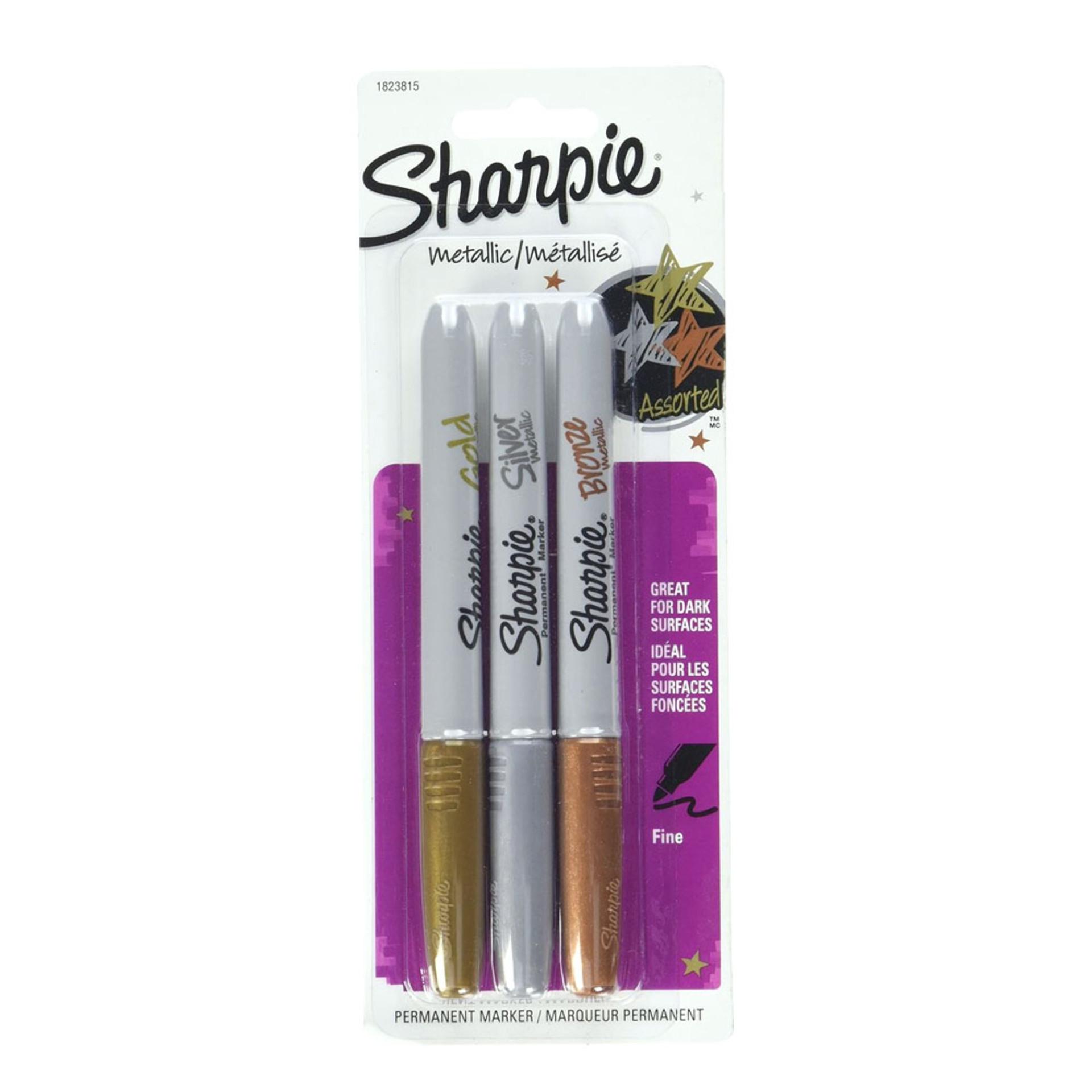 Sharpie Fine-Tip Assorted Metallic Markers 3 pack
