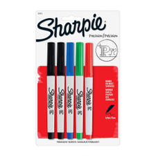 Sharpie Ultra-Fine Point Permanent Marker Assorted 5 Count