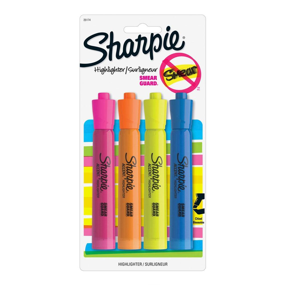 Sharpie Major Accent Highlighter 4 pack