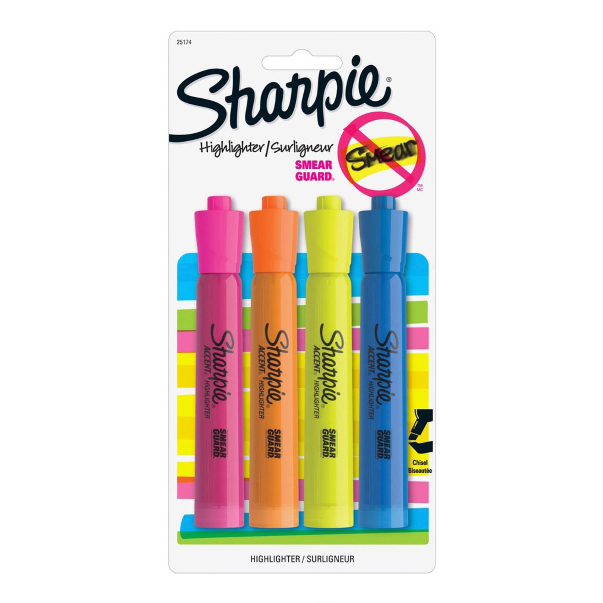 Sharpie Major Accent Highlighter 4 pack