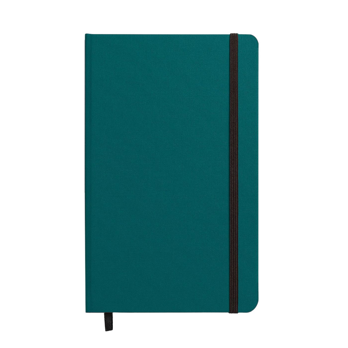 "Shinola Grid Hard Linen 5.25""x8.25"" Journal Dark Teal"