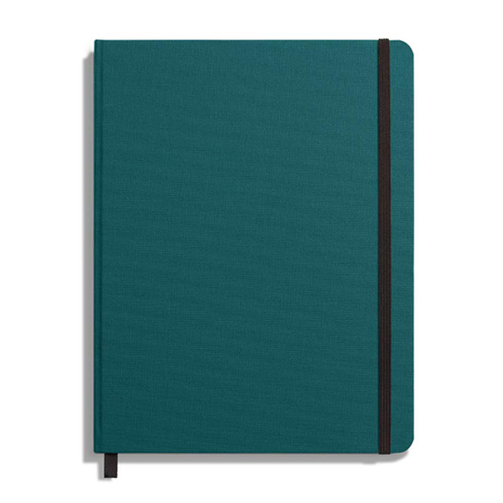 "Shinola Plain Hard Linen 7""x9"" Journal Dark Teal"