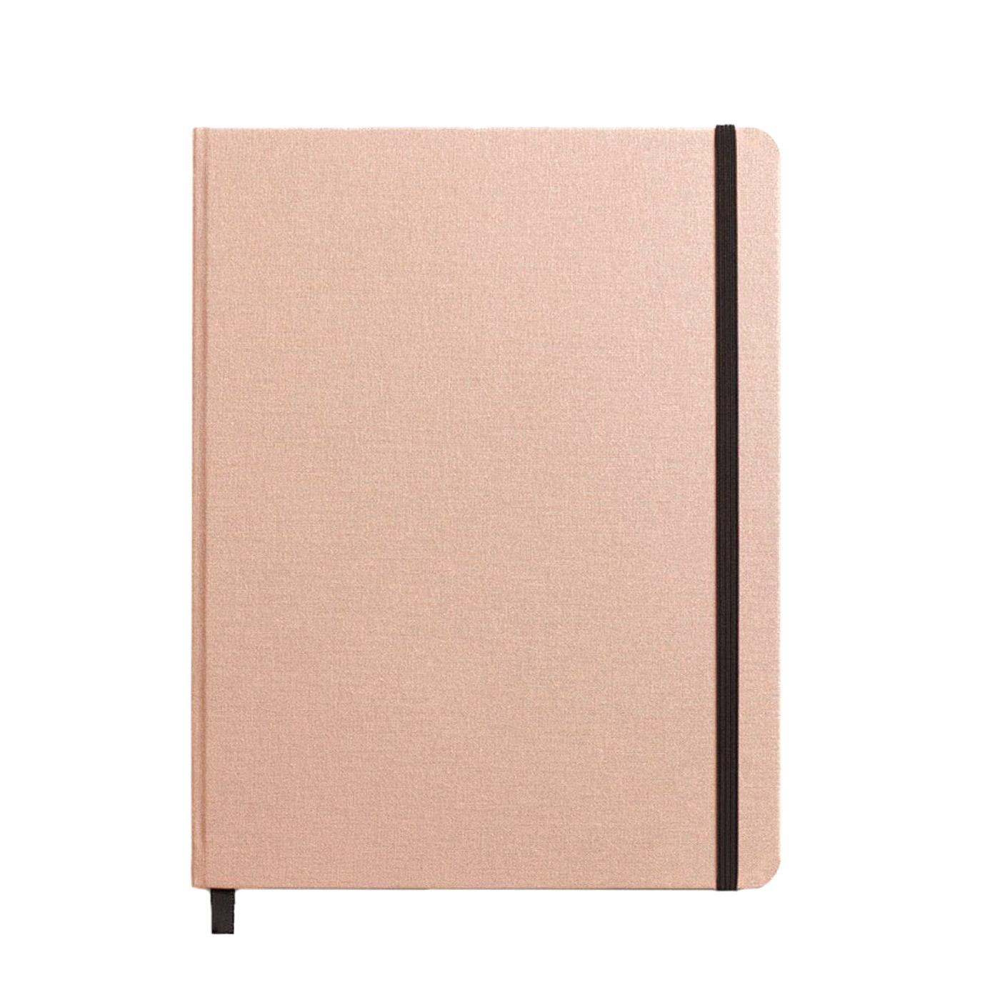 "Shinola Ruled Hard Linen 7""x9"" Journal Blush Front"