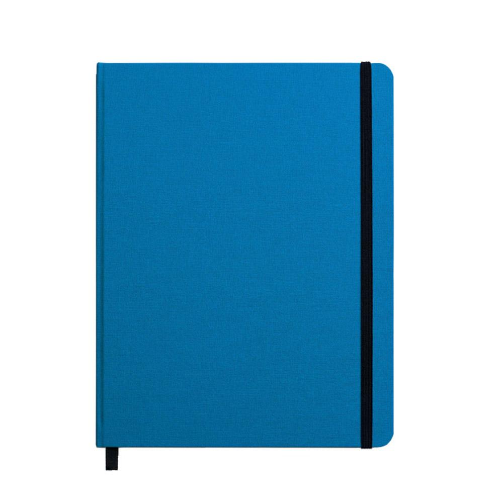 "Shinola Ruled Hard Linen 7""x9"" Journal Cobalt Blue Front"
