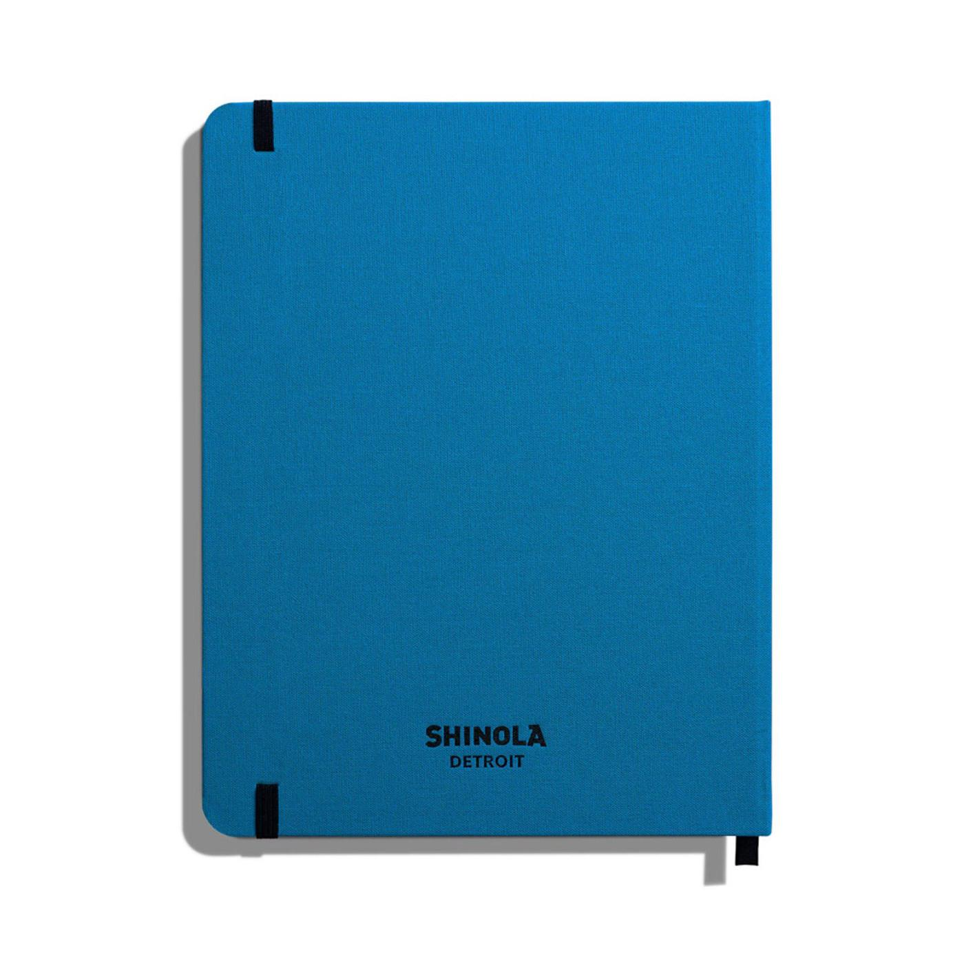 "Shinola Ruled Hard Linen 7""x9"" Journal Cobalt Blue Back"