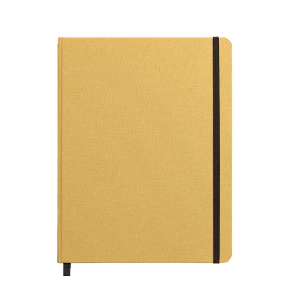 "Shinola Ruled Hard Linen 7""x9"" Journal Golden Front"