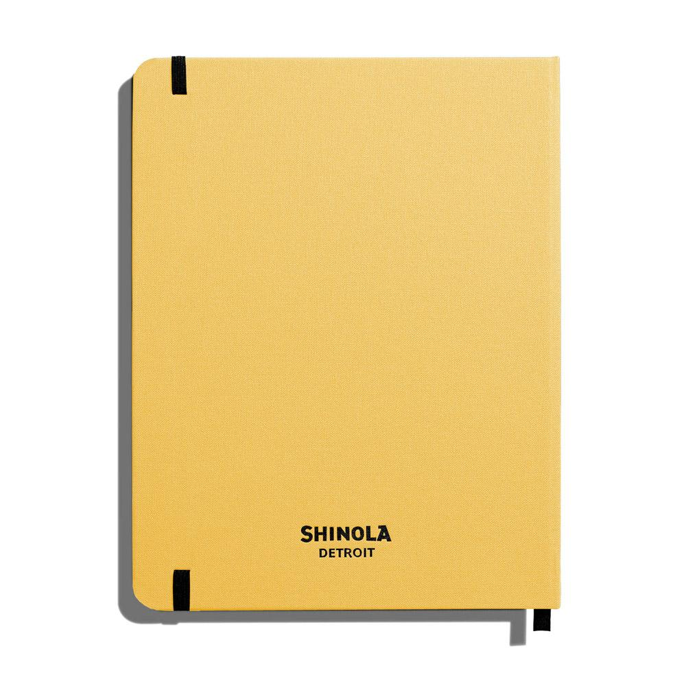 "Shinola Ruled Hard Linen 7""x9"" Journal Golden Back"