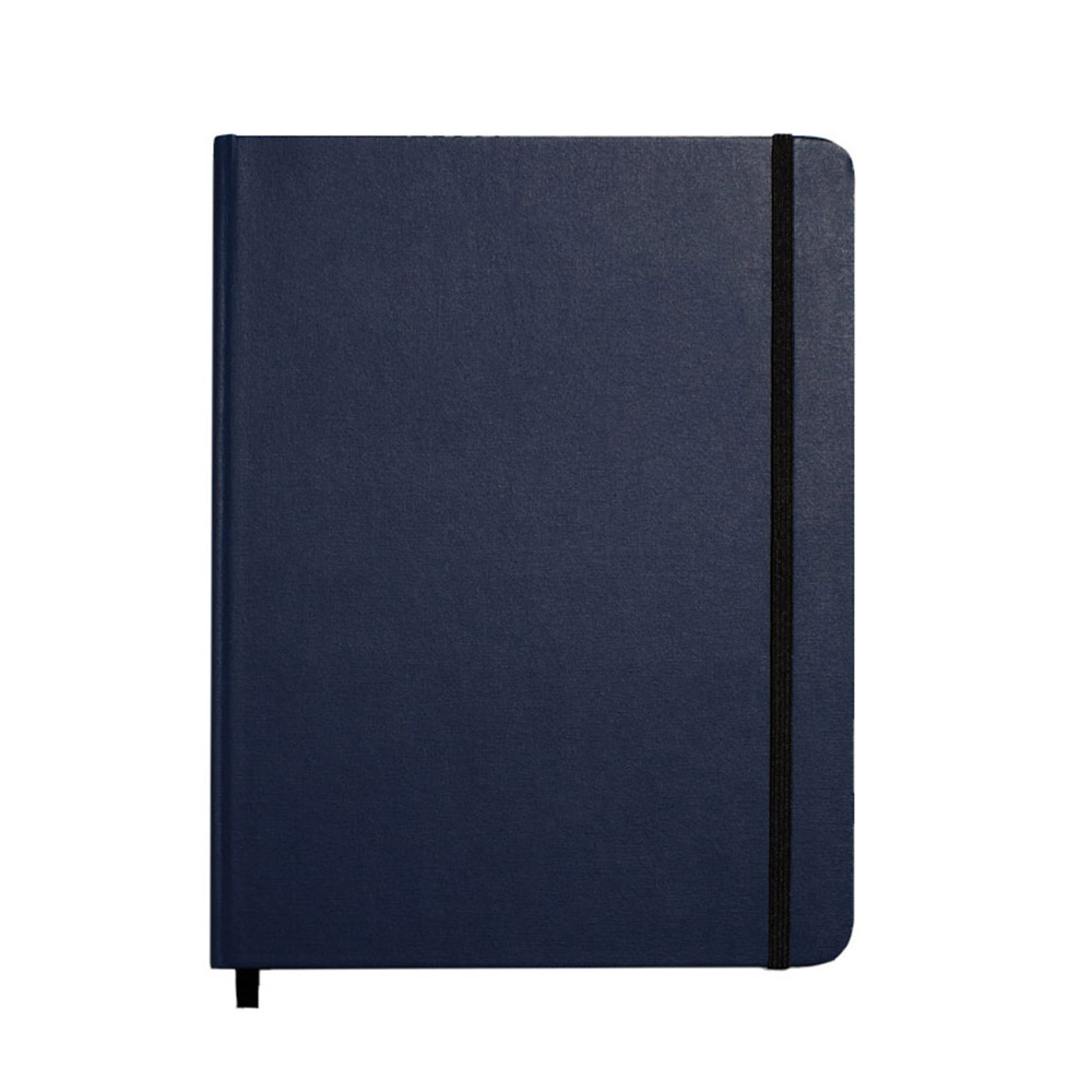 "Shinola Ruled Hard Linen 7""x9"" Journal Navy Front"
