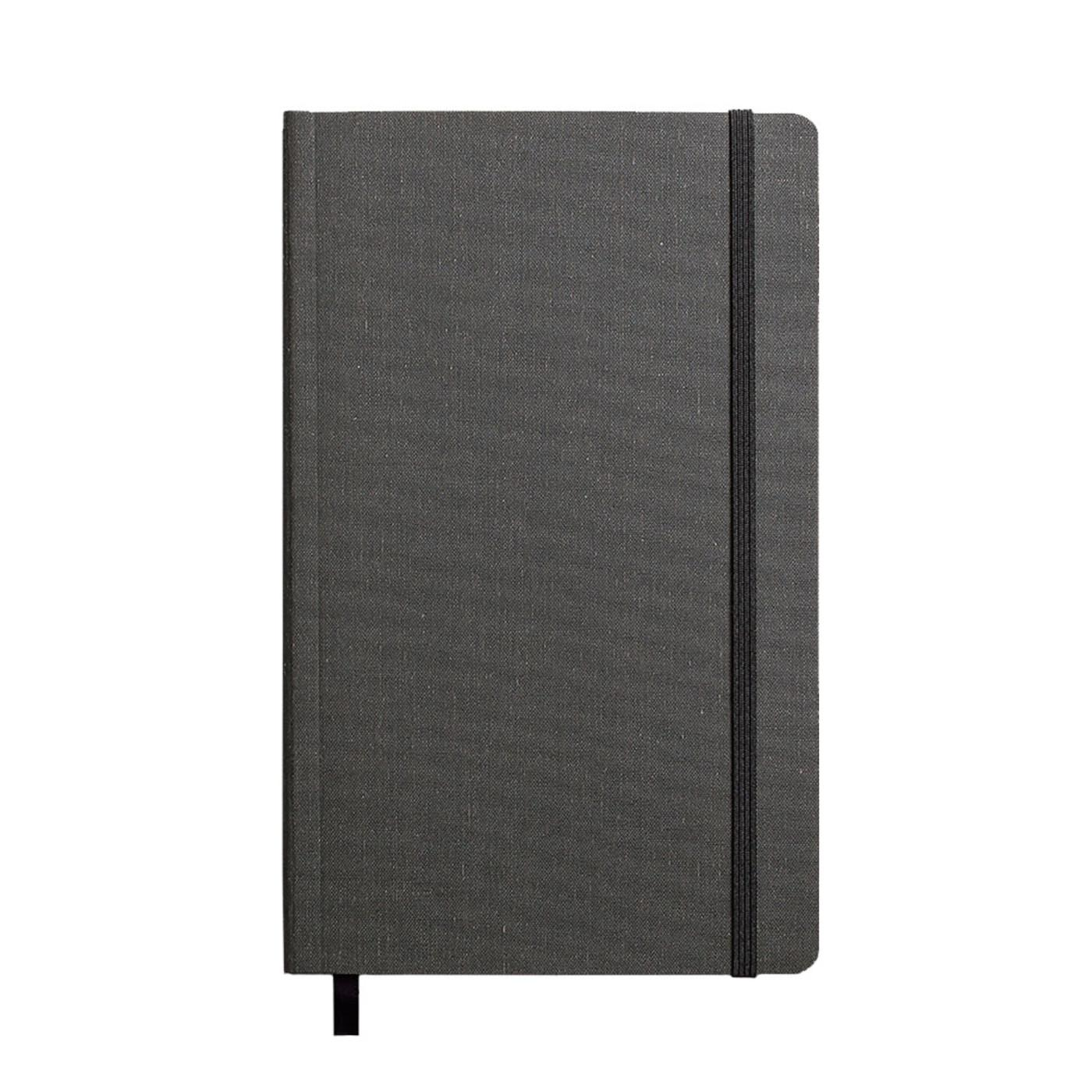 "Shinola Ruled Soft Linen 5.25""x8.25"" Journal Charcoal Gray"
