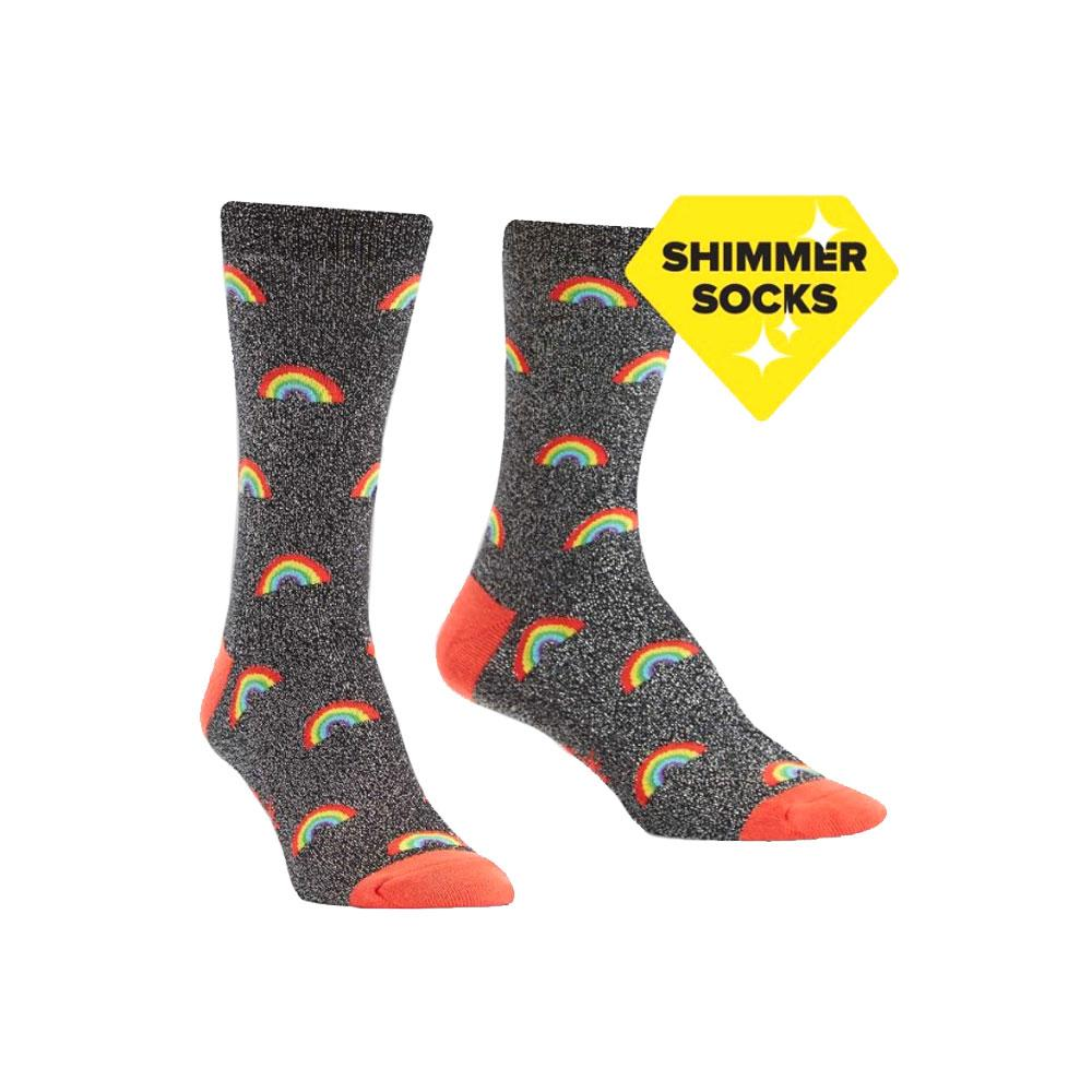 Sock It To Me Glitter Over the Rainbow Lurex Crew Socks