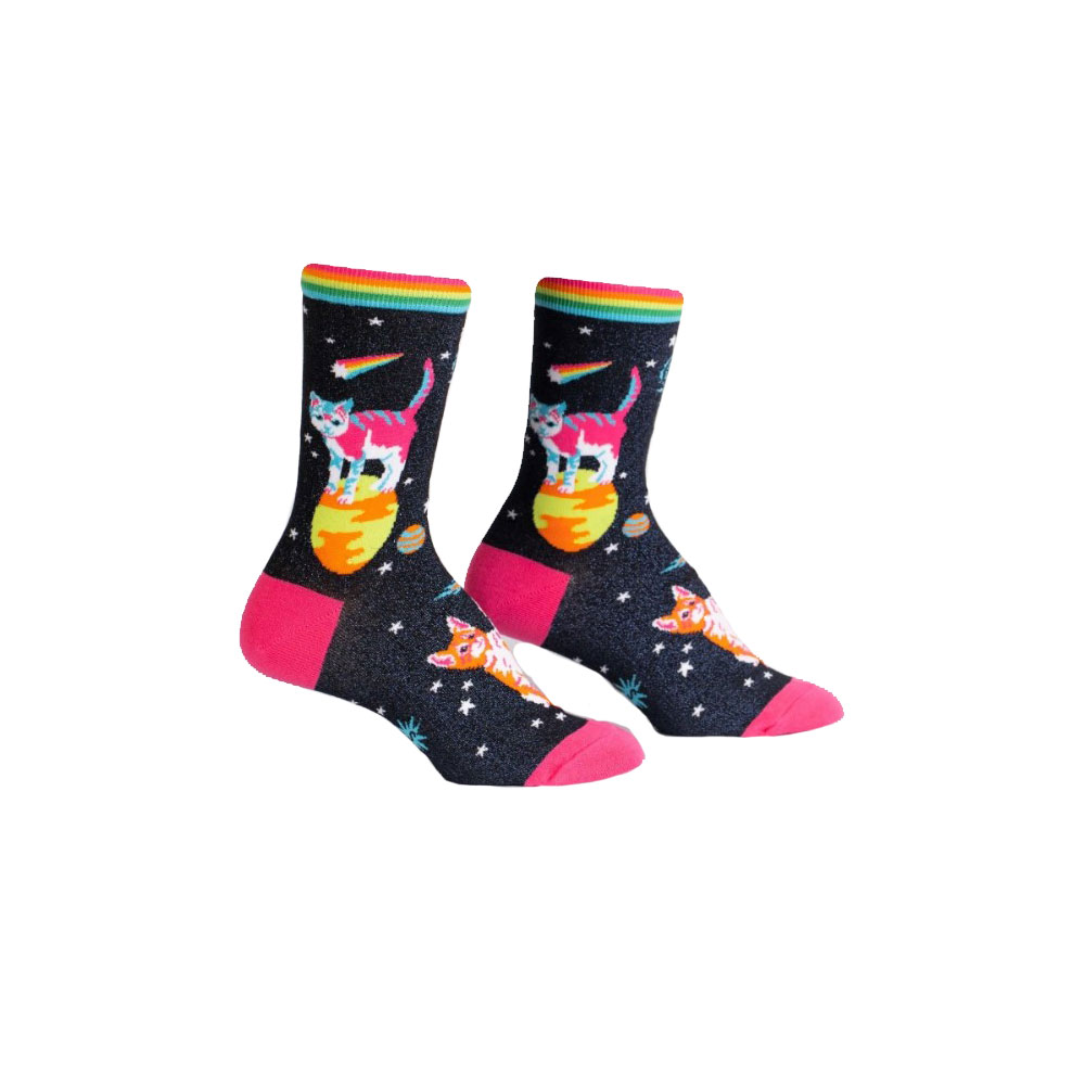 Sock It To Me Space Cats Crew Socks