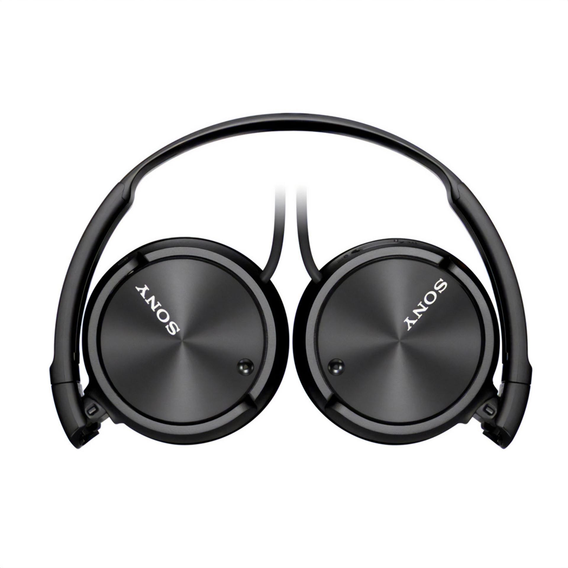 Sony Black ZX110NC Noise Canceling Headphones Folded