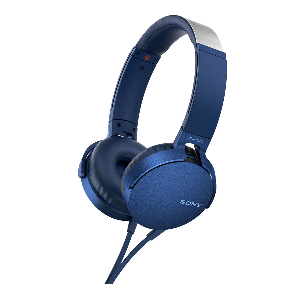 Sony Blue XB550AP Extra Bass Headphones