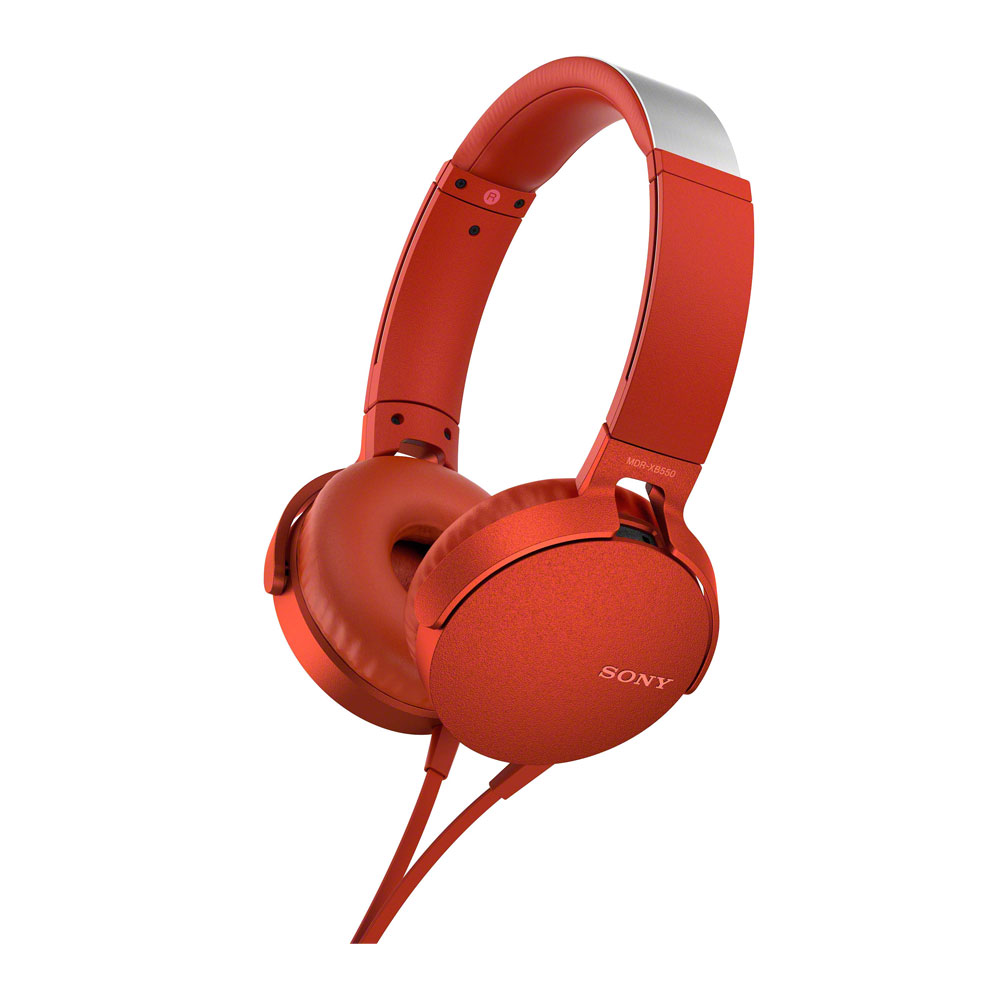 Sony Red XB550AP Extra Bass Headphones