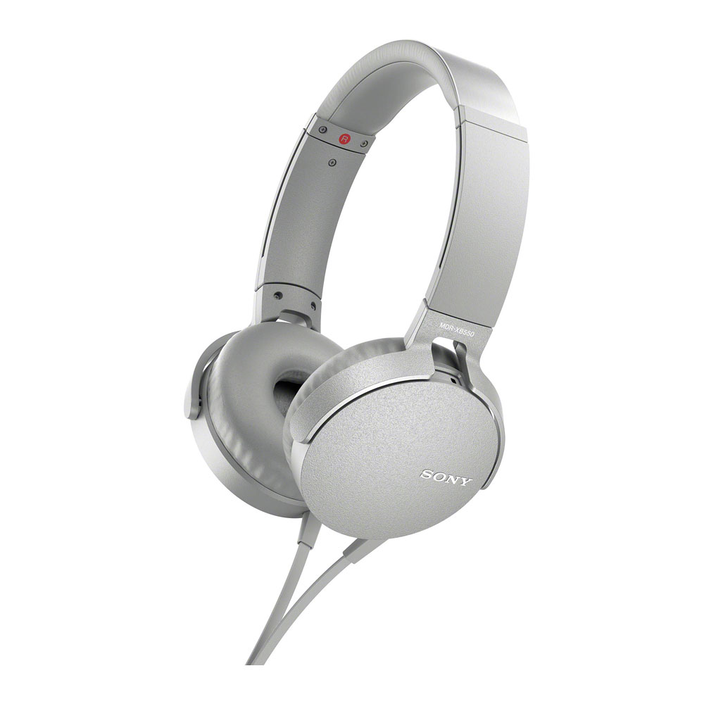 Sony White XB550AP Extra Bass Headphones