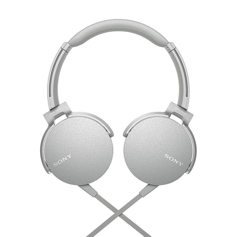 Sony White XB550AP Extra Bass Headphones