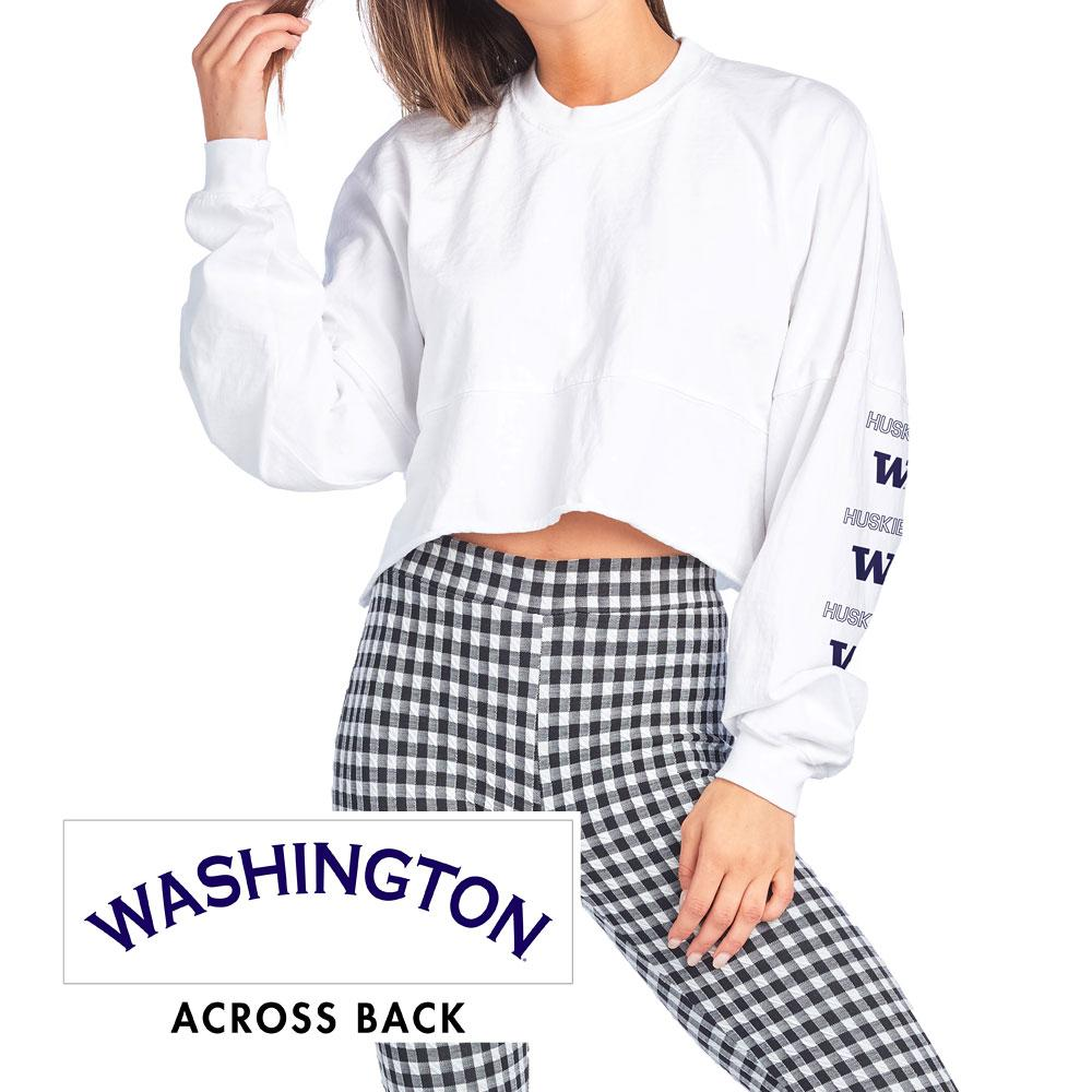 Spirit Jersey Washington W Huskies Raw Cropped Crew