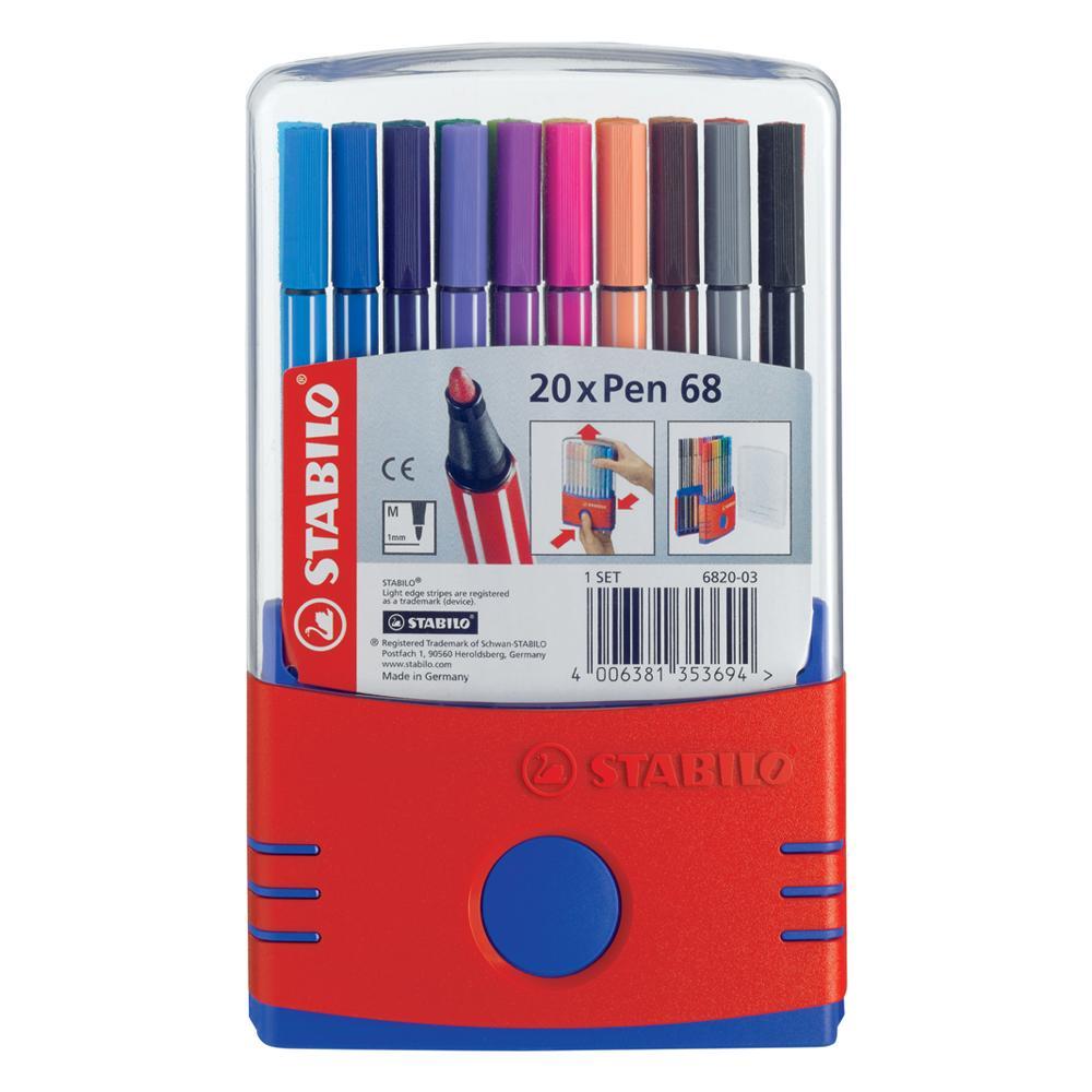 Stabilo Pen 68 Parade Marker Set 20 piece