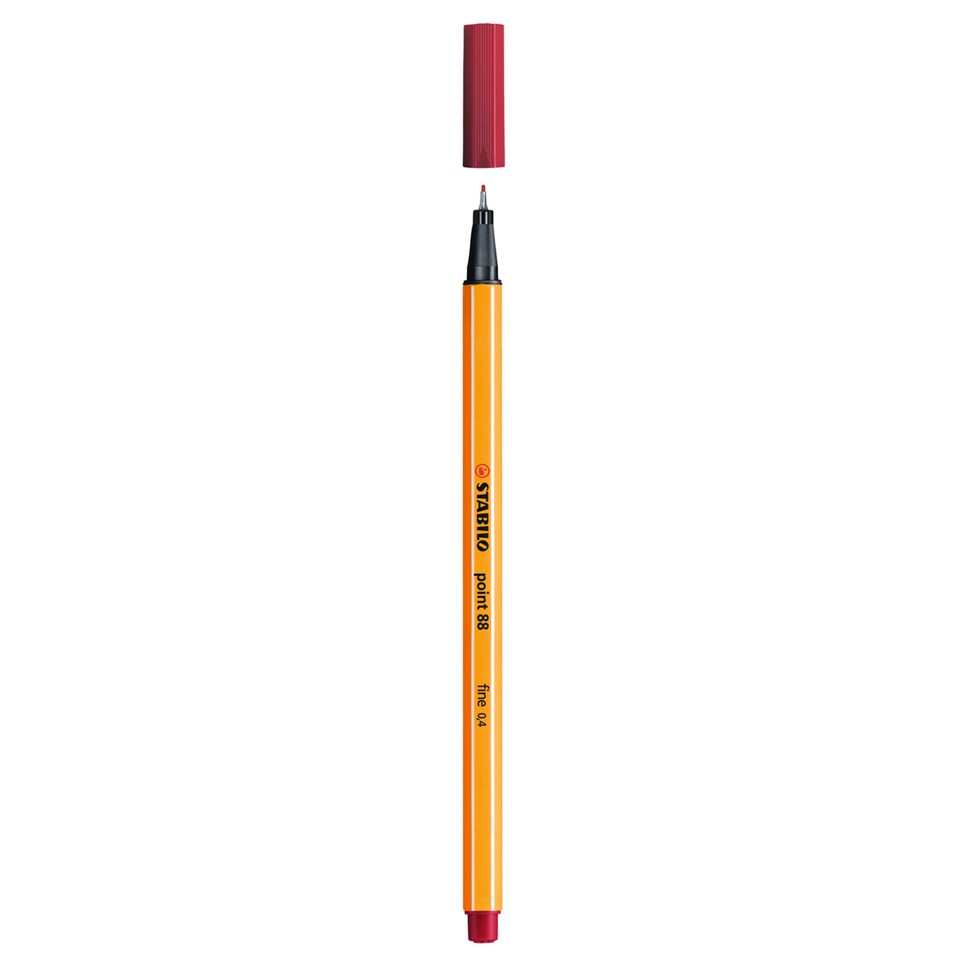 Stabilo Point 88 .4mm Fineliner Pen – Crimson