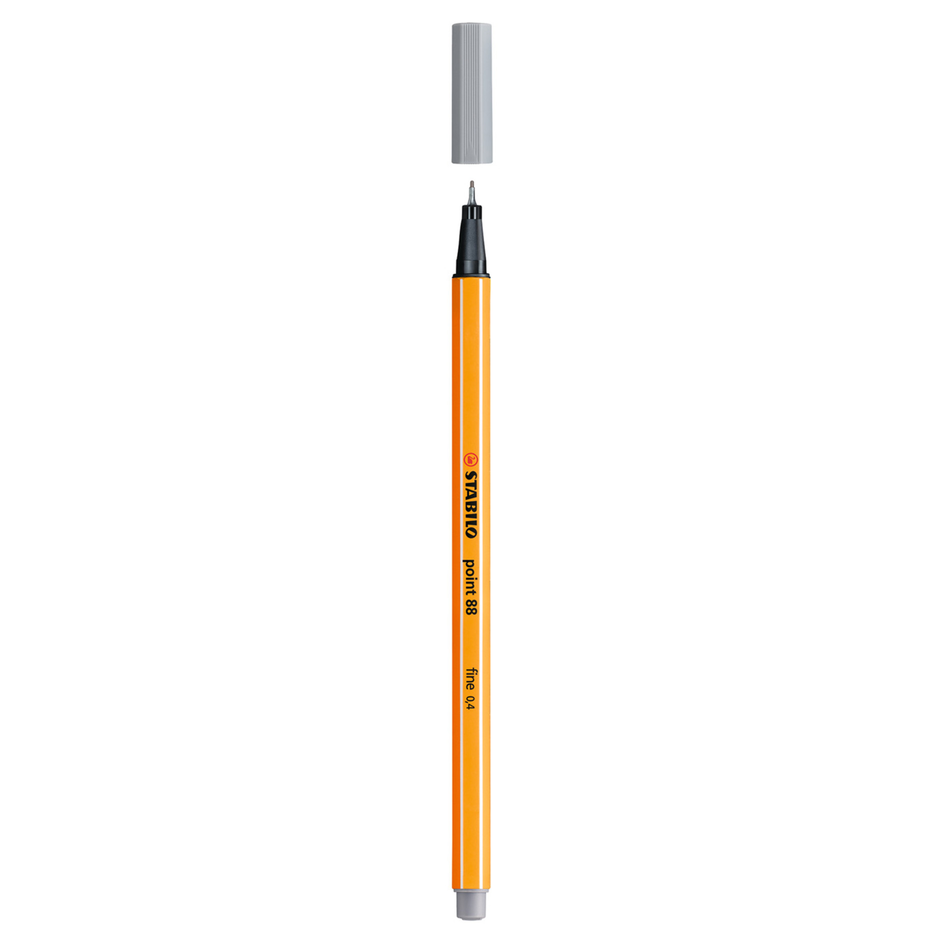 Stabilo Point 88 .4mm Fineliner Pen – Medium Cold Gray