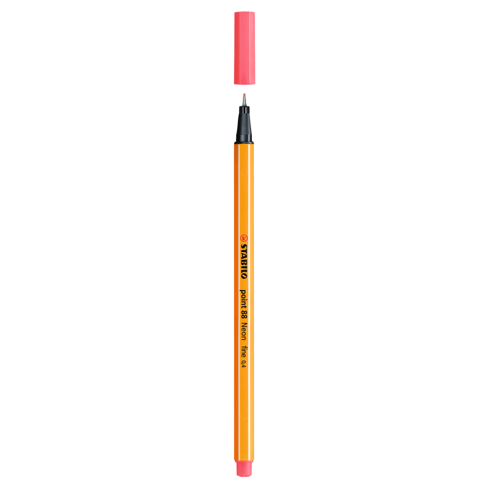 Stabilo Point 88 .4mm Fineliner Pen – Neon Red