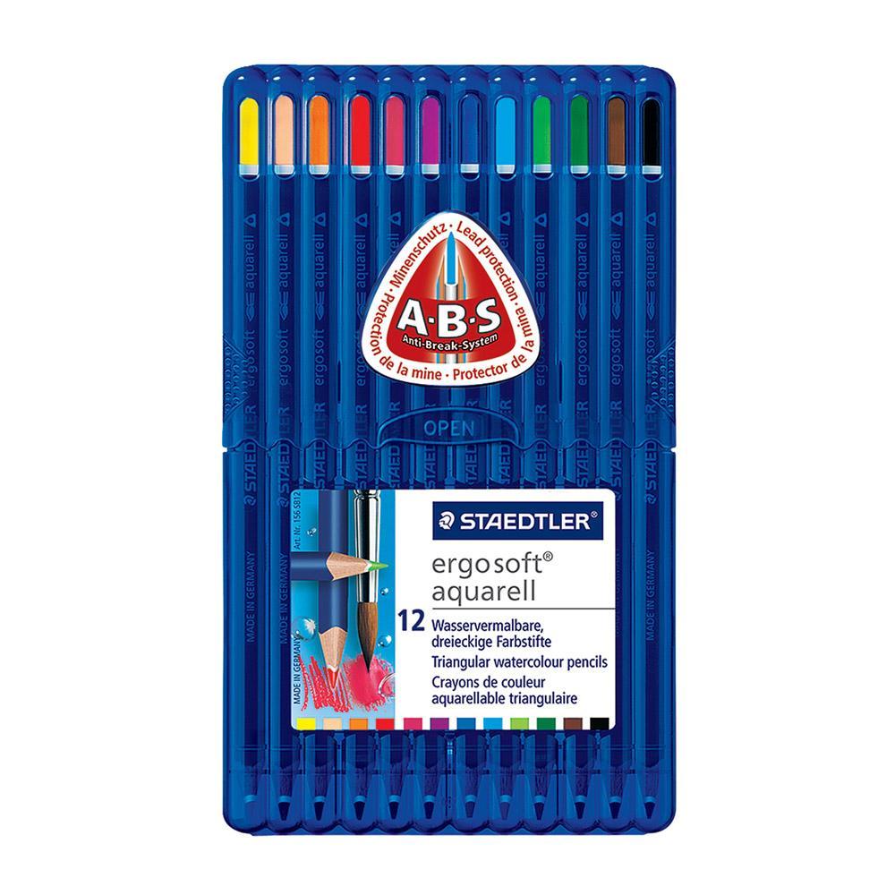 Staedtler Ergosoft Watercolor Pencil Set 12 Count