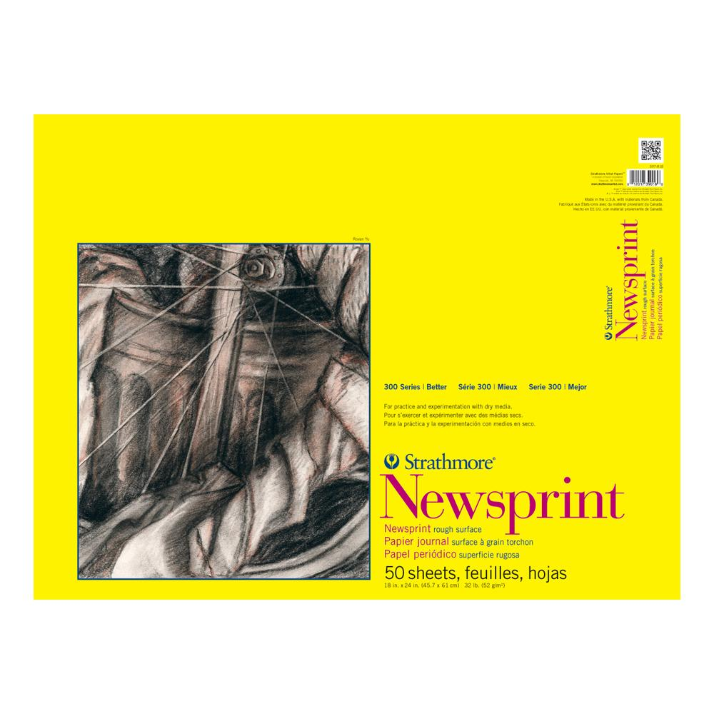 """Strathmore 18"""" x 24"""" Newsprint 50 Sheets"""