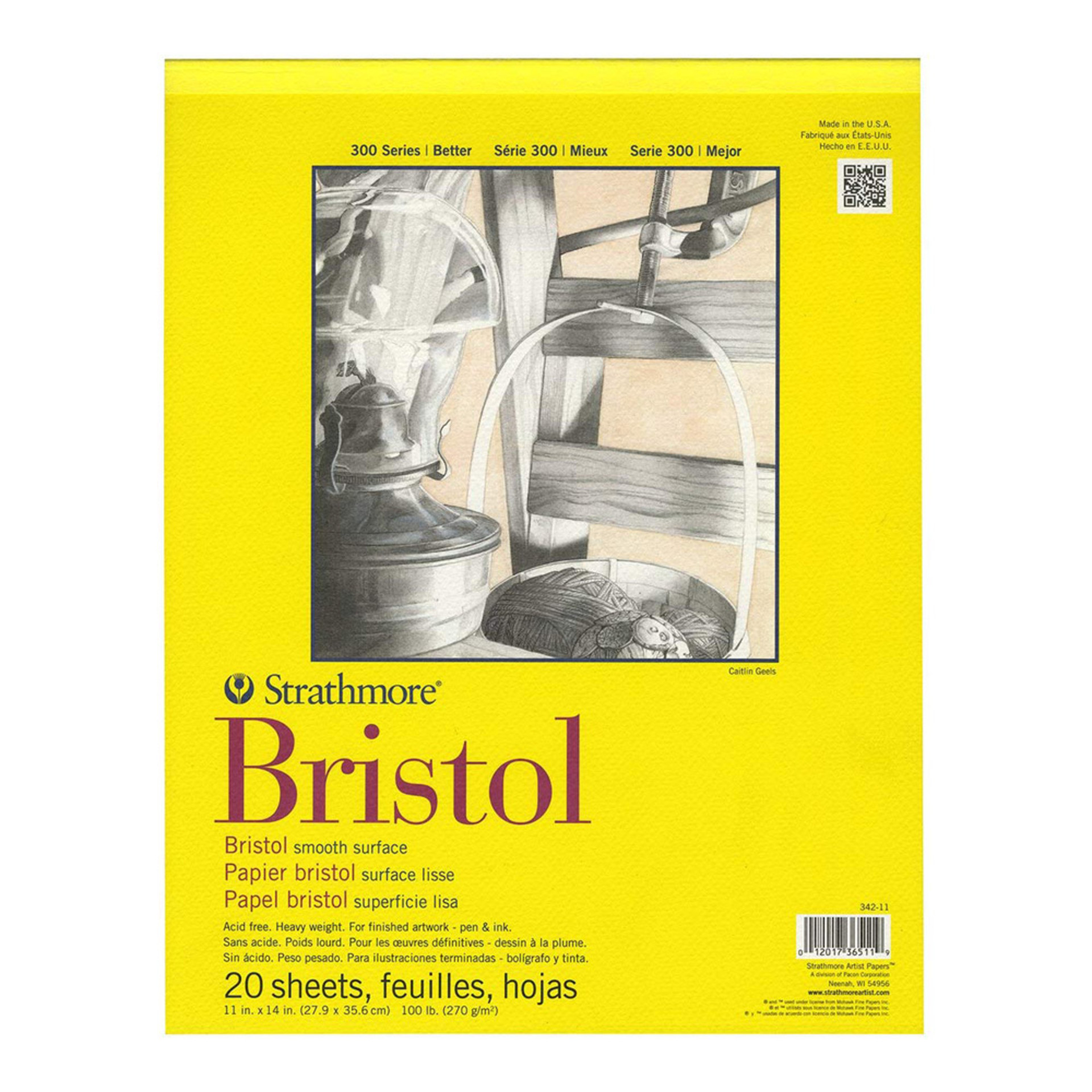 "Strathmore 300 Series Smooth Bristol Pad 11""x14"""