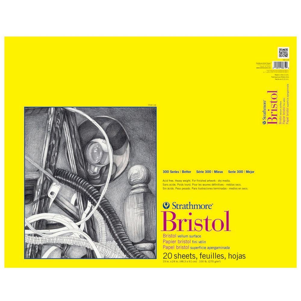 "Strathmore 300 Series Vellum Bristol Paper Pad 19""x24"""