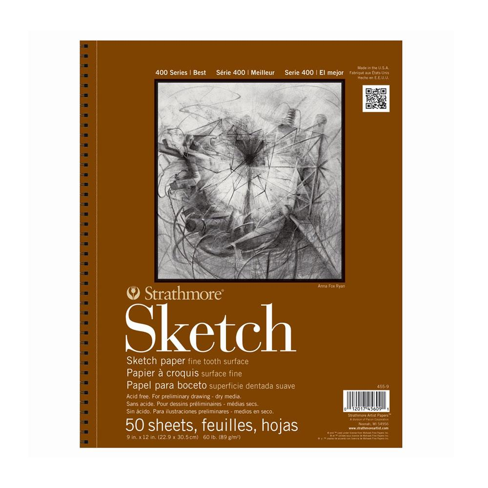 "Strathmore 400 Series 60lb Sketch Pad 50 Sheet 9""x12"""