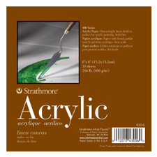 Strathmore 400 Series Acrylic Paper Pad 10 Sheet 6x6