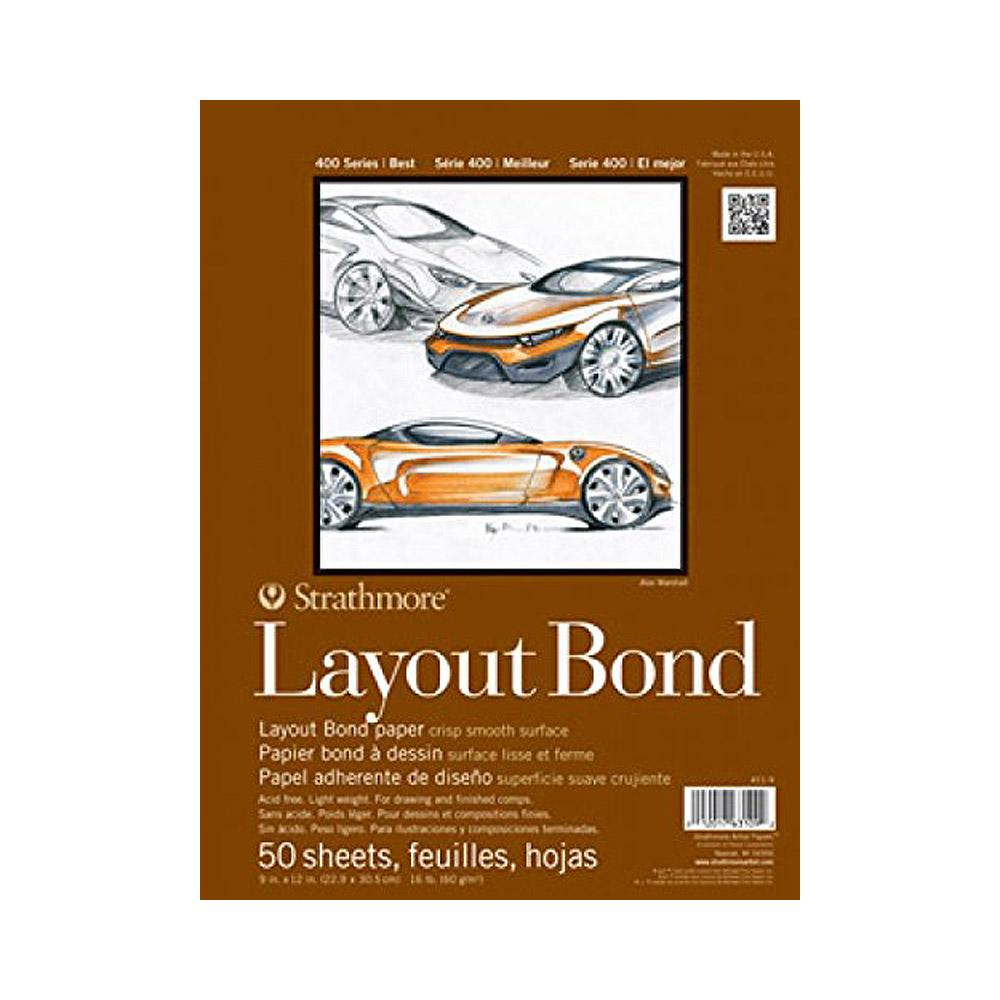 "Strathmore Layout Bond Pad 400 Series 19""x24"""