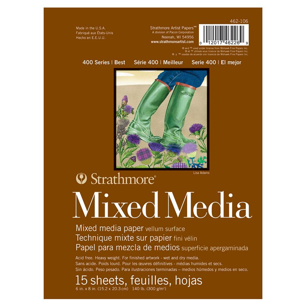 Strathmore 400 Series Mix Media Pad 15 Sheet 6x8