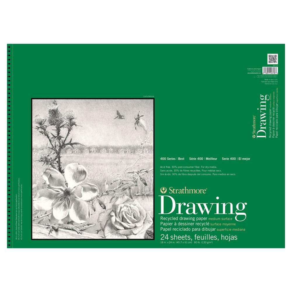 "Strathmore Recycled Drawing Pad 400 Series 18""x24"""