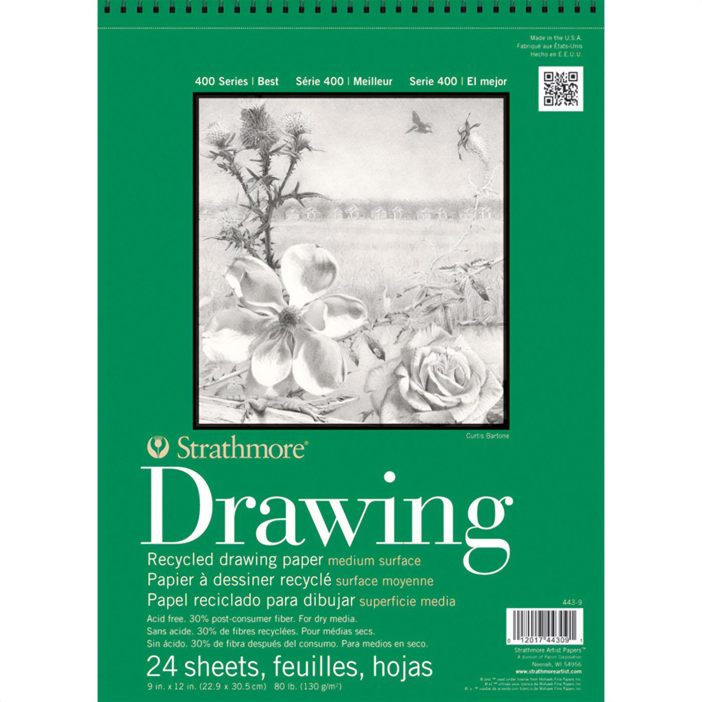 "Strathmore Recycled Drawing Pad 400 Series 9""x12"""